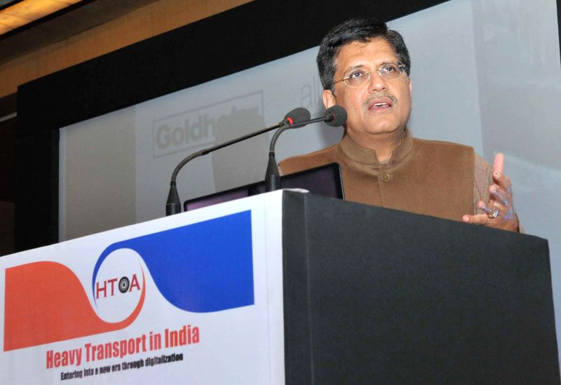 The Union Minister of State (Independent Charge) for Power, Coal and New and Renewable Energy Piyush Goyal addresses at the launch of a web portal for online approval of movement of OD and
