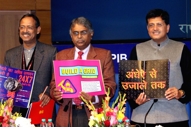 The Union Minister of State (Independent Charge) for Power, Coal and New and Renewable Energy Piyush Goyal at the launch of an e-book on Jan 8, 2015.