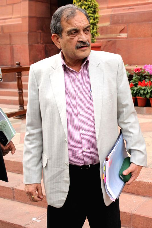The Union Rural Development minister Chaudhary Birender Singh at the Parliament on the second day of the budget session in New Delhi, on Feb 24, 2015. - Chaudhary Birender Singh
