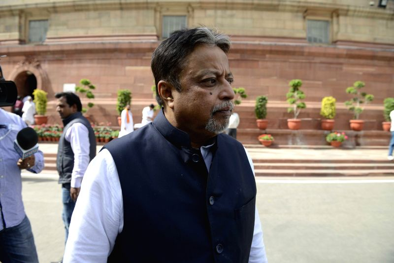 Trinamool Congress MP Mukul Roy at the Parliament in New Delhi, on Feb 28, 2015. - Mukul Roy