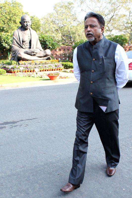 Trinamool Congress MP Mukul Roy at the Parliament in New Delhi, on March 4, 2015.
