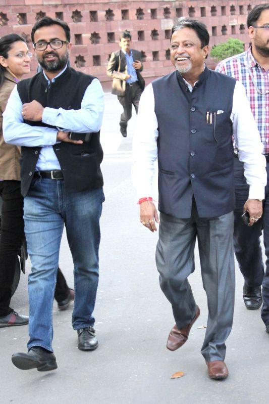 Trinamool Congress MP Mukul Roy at the Parliament in New Delhi, on March 12, 2015. - Mukul Roy