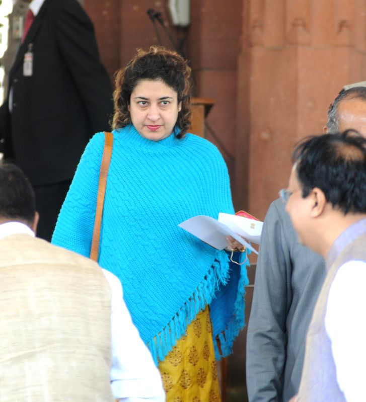 Trinamool Congress MP Satabdi Roy at the Parliament in New Delhi, on March 10, 2015.