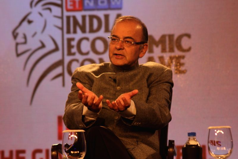 Union Finance Minister Arun Jaitley addresses at the India Economic Conclave in New Delhi on Dec. 6, 2014.