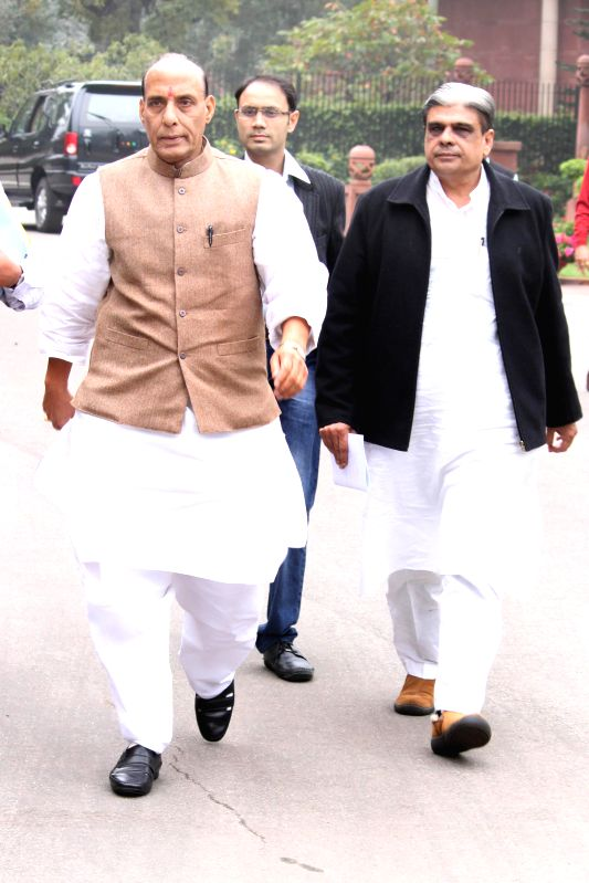 Union Home Minister Rajnath Singh at the Parliament in New Delhi, on March 3, 2015.