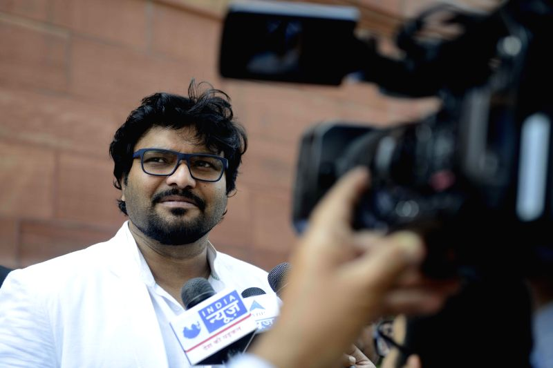 ​Union ​M​o​S Urban Development, Babul Supriyo at the Parliament in New Delhi, on March 18, 2015.