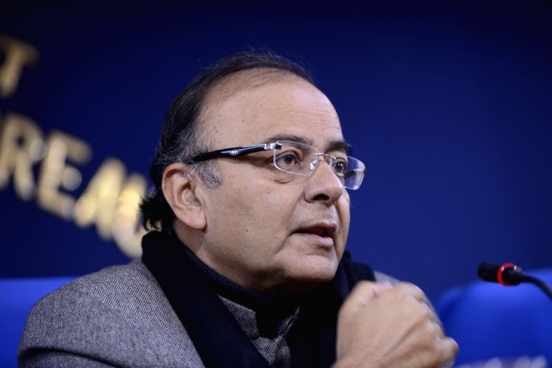 Union Minister for Finance, Corporate Affairs, and Information and Broadcasting Arun Jaitley during a press conference in New Delhi, on Dec 24, 2014.