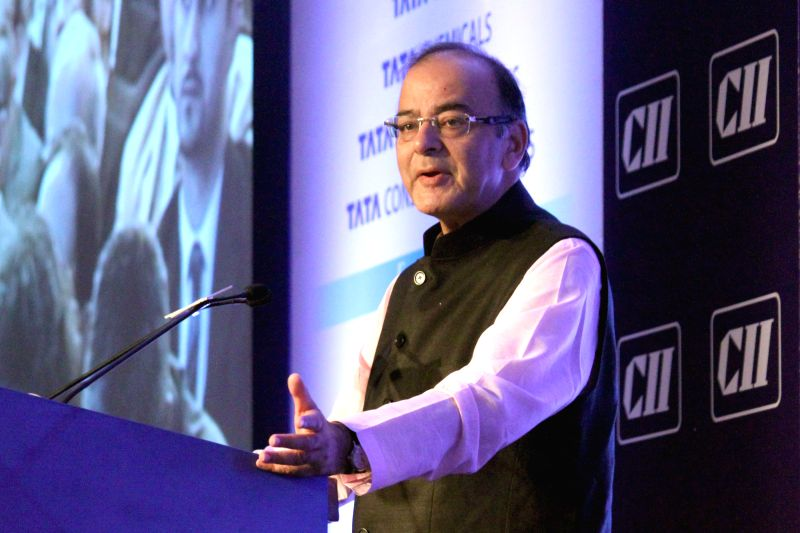 Union Minister for Finance, Corporate Affairs, and Information and Broadcasting Arun Jaitley addresses at CII's Annual Session -` Building India : A Shared Responsibility` in New Delhi, on ... - Arun Jaitley