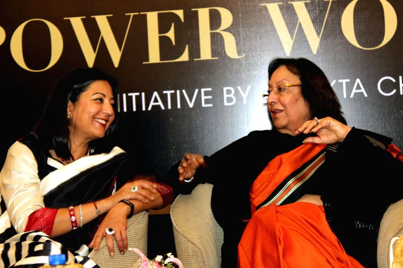 Union Minister for Minority Affairs Dr. Najma A. Heptulla at the launch of Dr. Ekta Chadha's book `Power Smiles Power Women` in New Delhi, on March 2, 2015. - Najma A. Heptulla