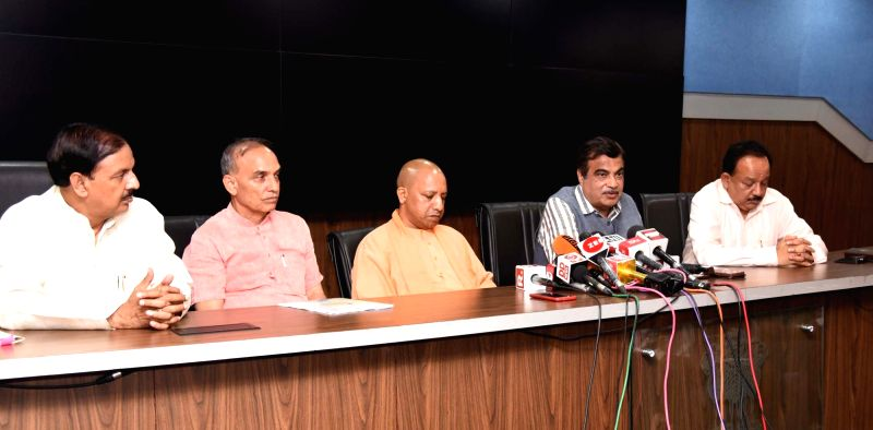 : New Delhi: Union Minister for Road Transport & Highways, Shipping and Water Resources, River Development & Ganga Rejuvenation Nitin Gadkari addresses a press conference after chairing a high level ...