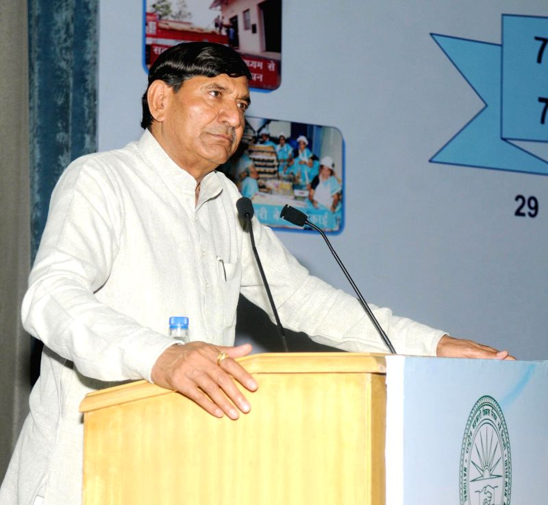 Union Minister of State for Agriculture Mohanbhai Kalyanjibhai Kundariya addresses at the presentation of the National Cooperative Development Corporation (NCDC) 7th Biennial Awards for ...