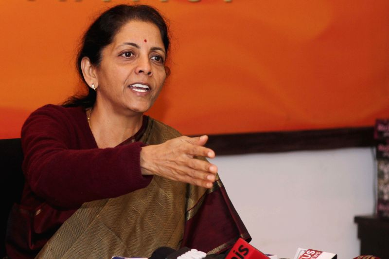 Union Minister of State for Commerce and Industry (Independent Charge) Nirmala Sitharaman addresses a press conference in New Delhi, on Jan 22, 2015.