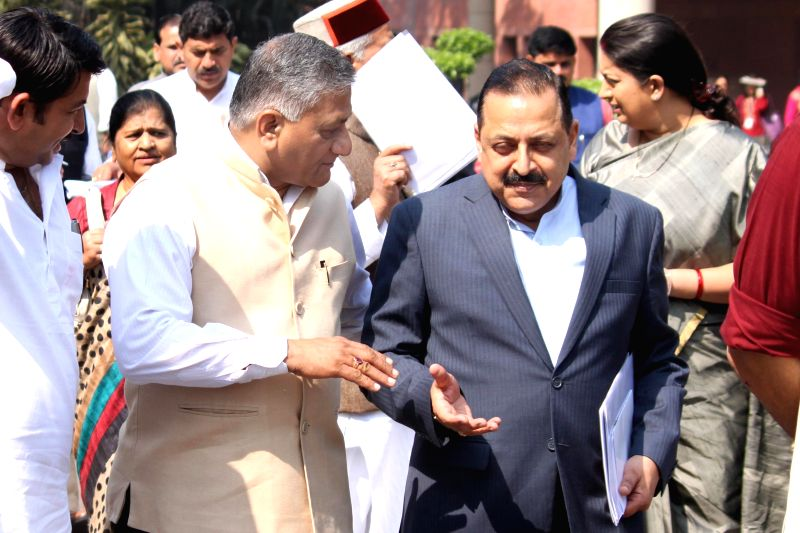 Union Minister of State for External Affairs General (Retd.) V.K. Singh and the Union Minister of State for Development of North Eastern Region (Independent Charge), Prime Minister's ... - K. Singh and Jitendra Singh