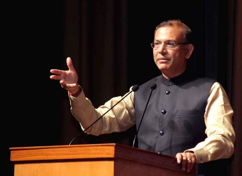 Union Minister of State for Finance Jayant Sinha addresses during a seminar on `Our Role in Current Indian Scenario` organised by FICCI at Mandi House in New Delhi on Jan 13, 2015.