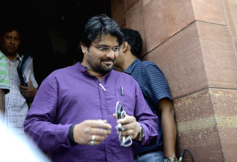 Union Minister of State for Urban Development, Housing and Urban Poverty Alleviation Babul Supriyo at the Parliament house in New Delhi, on April 29, 2015.