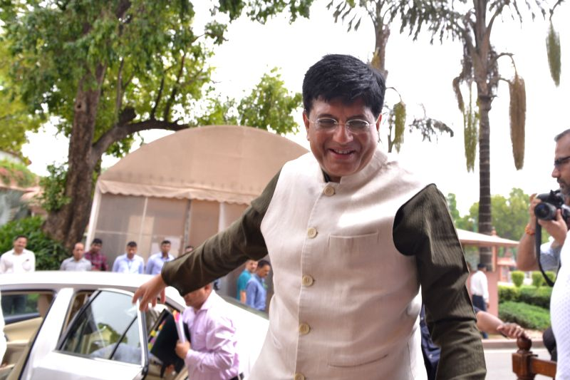 New Delhi: Union Minister Piyush Goyal at Parliament, in New Delhi on July 10, 2019.