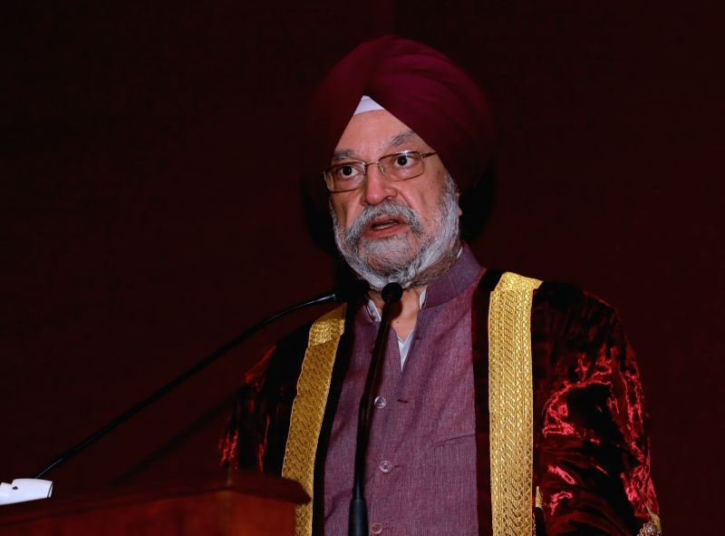 New Delhi: Union MoS Housing and Urban Affairs, Civil Aviation (Independent Charge) and Commerce and Industry Hardeep Singh Puri addresses during the 53rd Convocation programme of Indian Institute of Foreign Trade (IIFT), in New Delhi on Aug 8, 2019.
