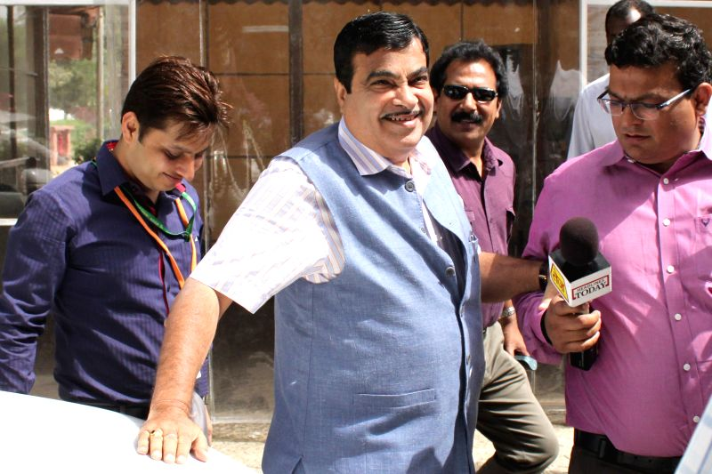 Union Road, Transport and Highways Minister Nitin Gadkari at Parliament House on April.20, 2015. - Nitin Gadkari