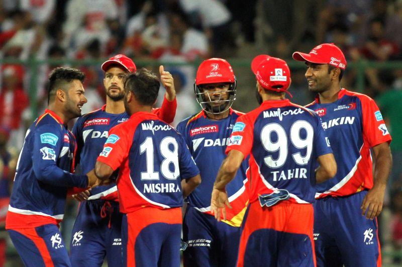 :New Delhi: Usman Khawaja of Rising Pune Supergiants in action during an IPL match between Delhi Daredevils and Rising Pune Supergiants at Feroz Shah Kotla stadium in New Delhi, on May 5, 2016. ...