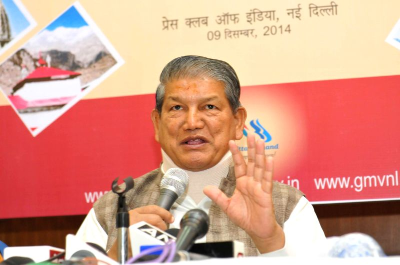 Uttarakhand Chief Minister Harish Rawat during a press conference in New Delhi, on Dec 9, 2014. - Harish Rawat
