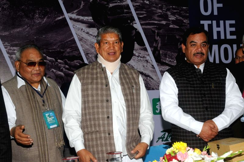 Uttarakhand Chief Minister Harish Rawat during a programme organised on the eve of International Mountain Day in New Delhi, on Dec 10, 2014. - Harish Rawat