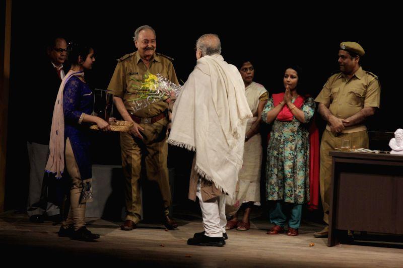 Veteran actor Soumitra Chatterjee during NSD Fest at Kammani Auditorium in New Delhi, on Feb 9, 2015.