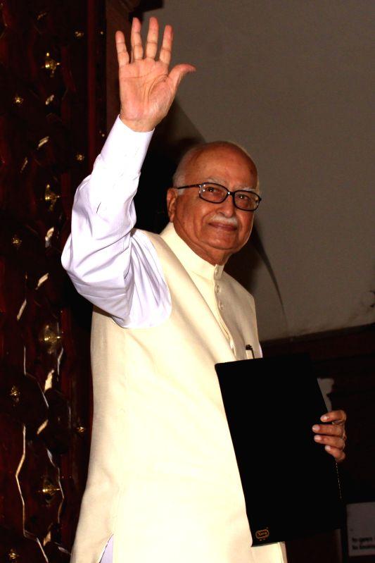 Veteran BJP leader L K Advani at Parliament House on Feb 28, 2015.