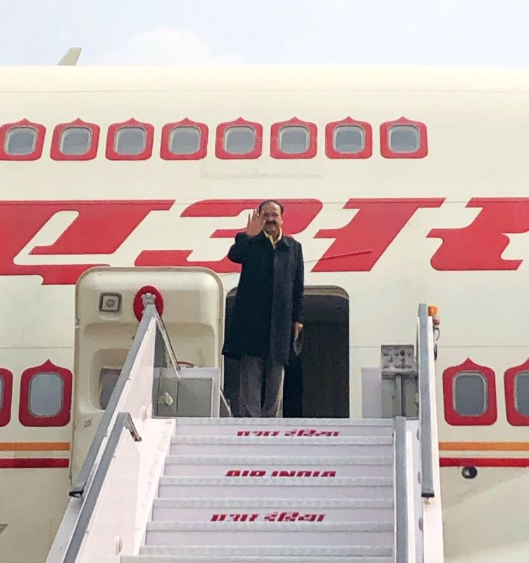 New Delhi: Vice President M. Venkaiah Naidu embarks on a two-nation tour of Paraguay and Costa Rica, on March 4, 2019. (Photo: IANS/MEA)