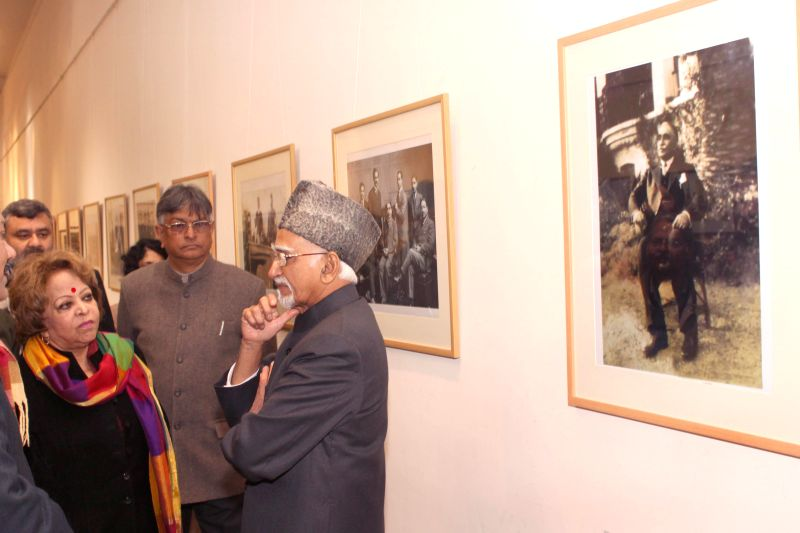 New Delhi:Vice-President Mohammad Hamid Ansari at the inauguration of 134th birth anniversary of Dr. Mukhtar Ahmad Ansari  organised by the Faculty of Architecture and Ekistics, Jamia Millia Islamia .