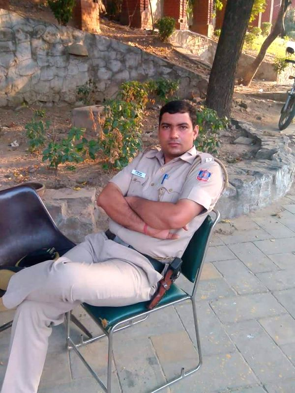 Vipin Tomar, a 26-year-old Delhi Police constable who shot himself with his service pistol at Barakhamba police station in New Delhi, on Jan 18, 2015. (File Photo: IANS)