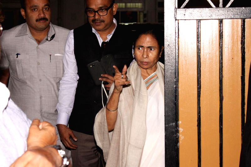 West Bengal Chief Minister Mamata Banerjee arrives at her nephew Abhishek Banerjee's house,in New Delhi on March 8,2015.​ - Abhishek Banerjee