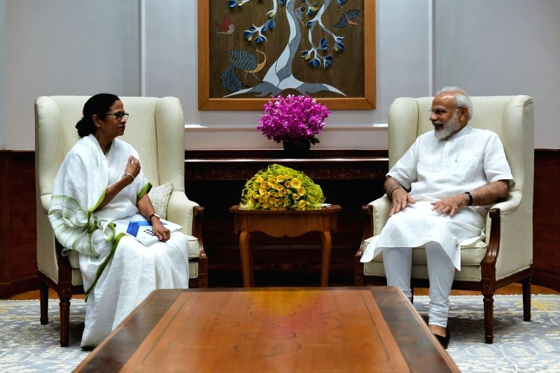 New Delhi: West Bengal Chief Minister Mamata Banerjee meets Prime Minister Narendra Modi in New Delhi on Sep 18, 2019. (Photo: IANS/PMO)
