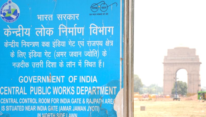 New Delhi: Work in progress for the Central Vista project at India Gate in New Delhi on Wednesday 05 May,2021.(Photo: Qamar Sibtain/IANS)