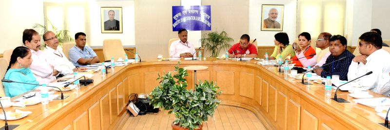 New DelhiNepali journalists  meet Ministry of Information & Broadcasting Secretary Ajay Mittal, in New Delhi on May 24, 2016.