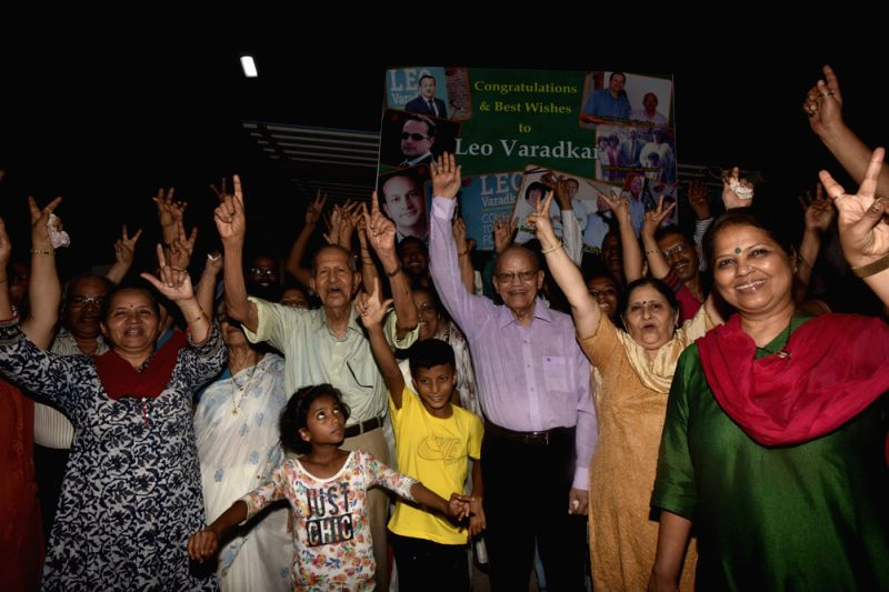 ​New Irish PM-elect Leo A. Varadkar\'s extended family in Mumbai celebrated his election to the top post, at their Borivali home, and also at their native village, Varad in Sindhudurg district ...