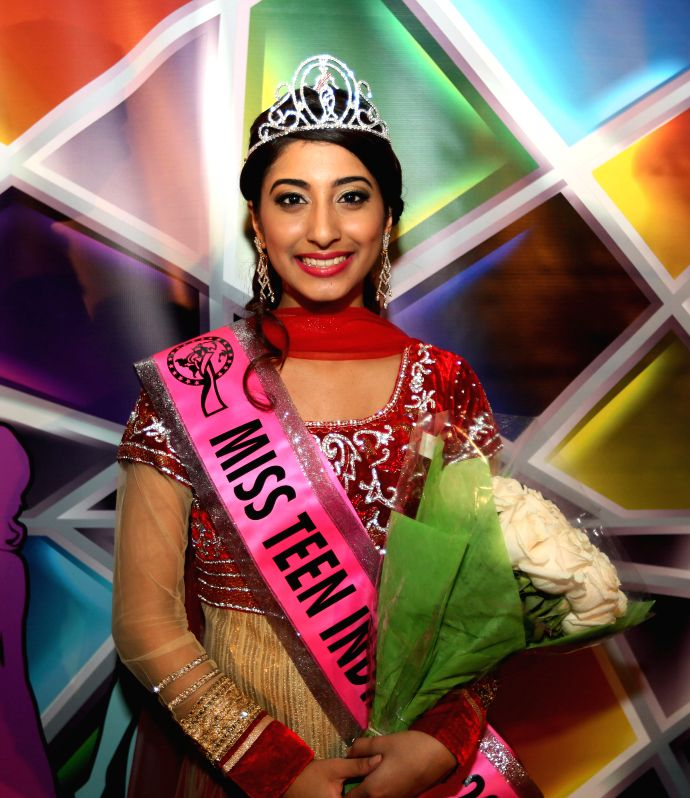 New Jersey: Fifteen-year old Riya Kaur, who was declared Miss Teen India USA 2014 in New Jersey, US on Dec 14, 2014.