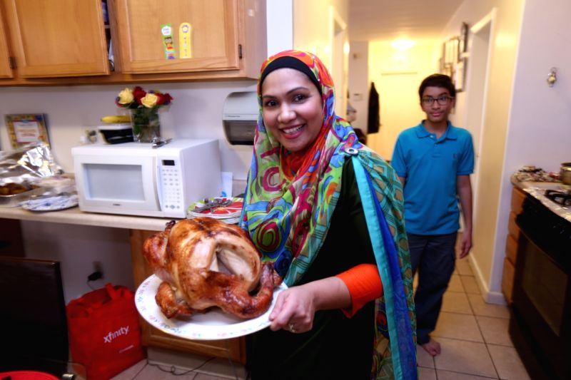 New Jersey: Muslims celebrate Thanksgiving Day in Jersey City, New Jersey, US.