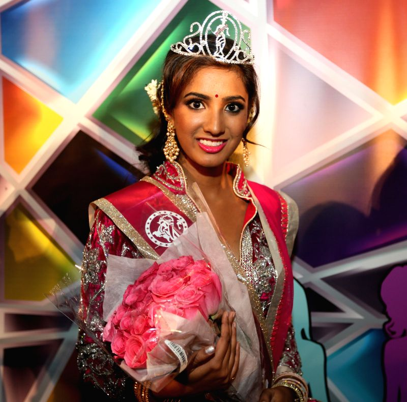 New Jersey: Nineteen-year old Pran Gangaraju who was declared Miss India USA 2014 in New Jersey, US on Dec 14, 2014.