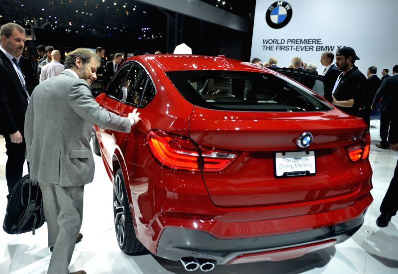 A BMW Concept X4 car is displayed during the press day of the 2014 New York International Auto Show in New York, the United States, April 16, 2014. The latest ...