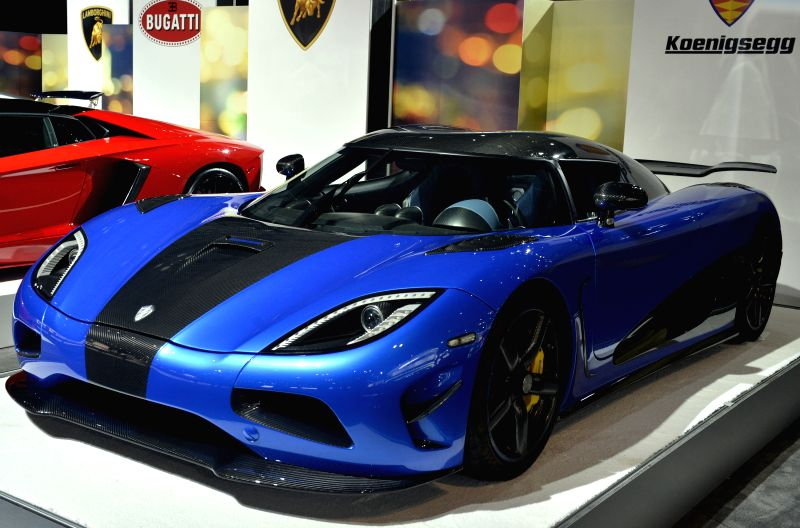 A Keonigsegg One:1 is displayed at the New York International Auto Show in New York, the United States, April 2, 2015. A new breed of supercars that are said to ...