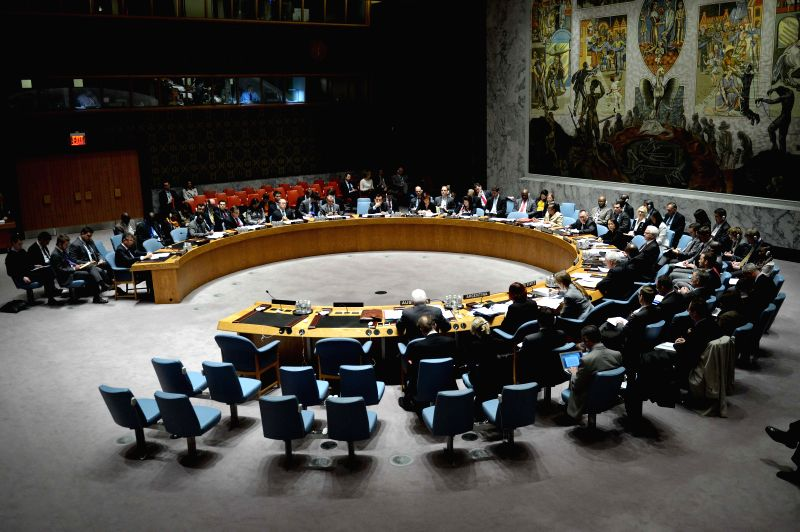 United Nations Security Council holds an open meeting on Ukraine, at the UN headquarters in New York, on April 29, 2014. In a briefing to the UN Security Council .