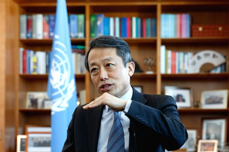 NEW YORK, April 7, 2016 - Kim Won-soo, United Nations under-secretary-general and high representative for disarmament affairs, speaks during an interview with Xinhua at the UN headquarters in New ...