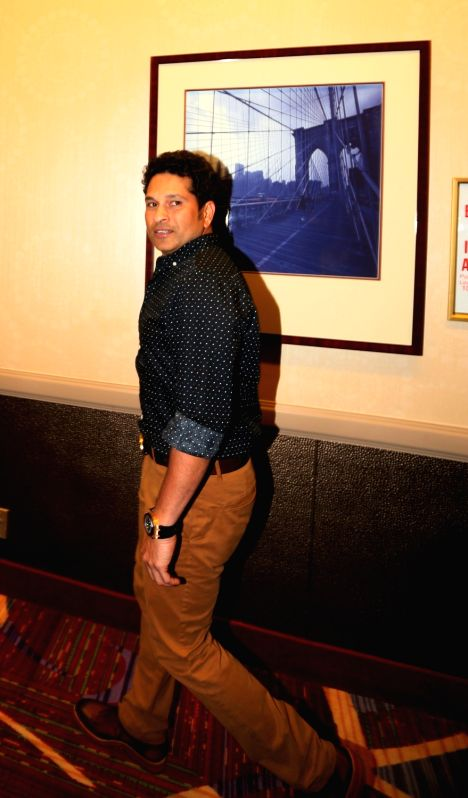 New York: Cricketers Sachin Tendulkar  during a programme in Manhattan, New York City, US on Nov 2, 2015.