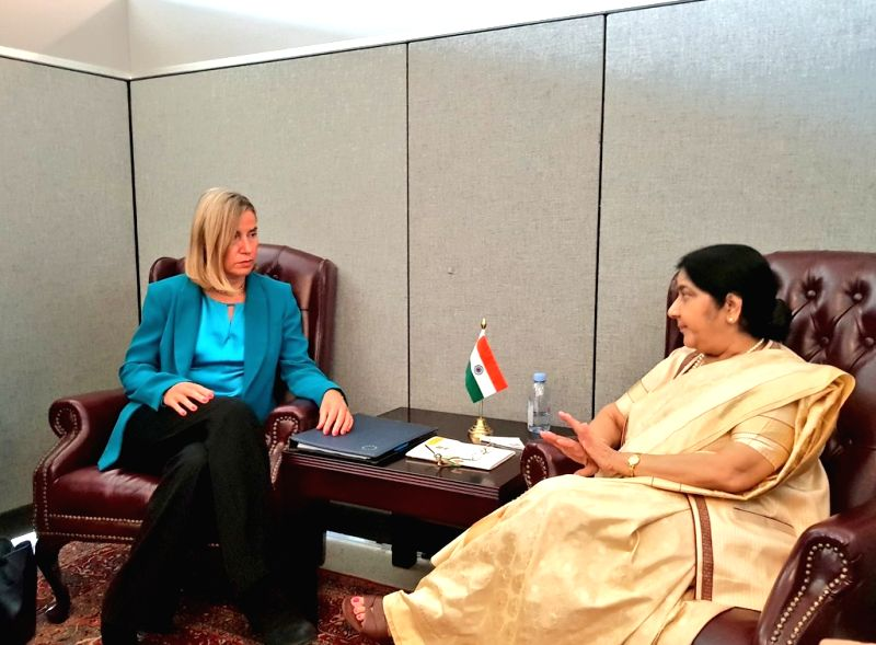 New York (US): Sushma meets EU Foreign Policy chief