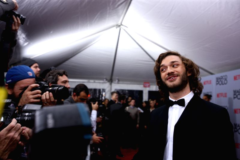 "New York: Italian actor Lorenzo Richelmy receives an interview before the premiere of the new Netflix series ""Marco Polo"" at AMC Lincoln Square in New York, the United States, on Dec. 2, ... - Lorenzo Richelmy"
