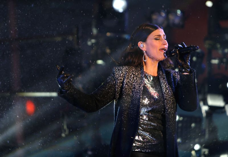 American singer Idina Menzel performs during the New Year's Eve celebration at Times Square in New York, the United States on Dec. 31, 2014.  Times Square has been .