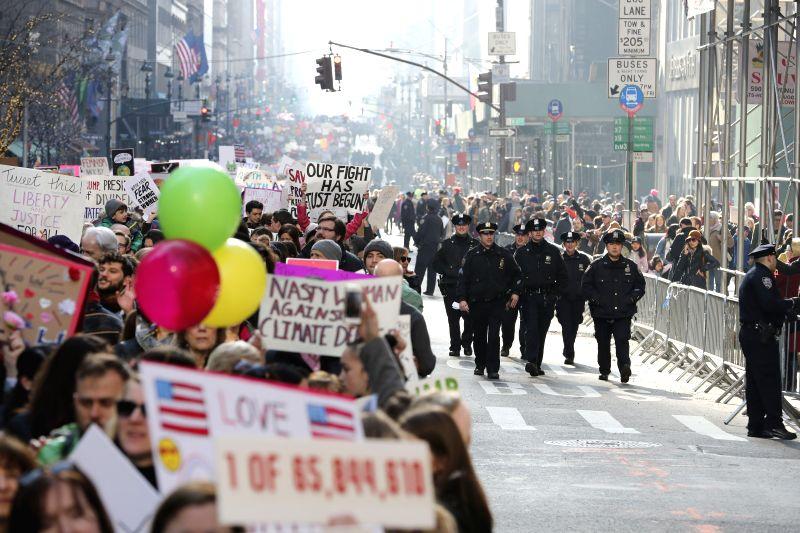U.S.-NEW YORK-ANTI-TRUMP PROTEST