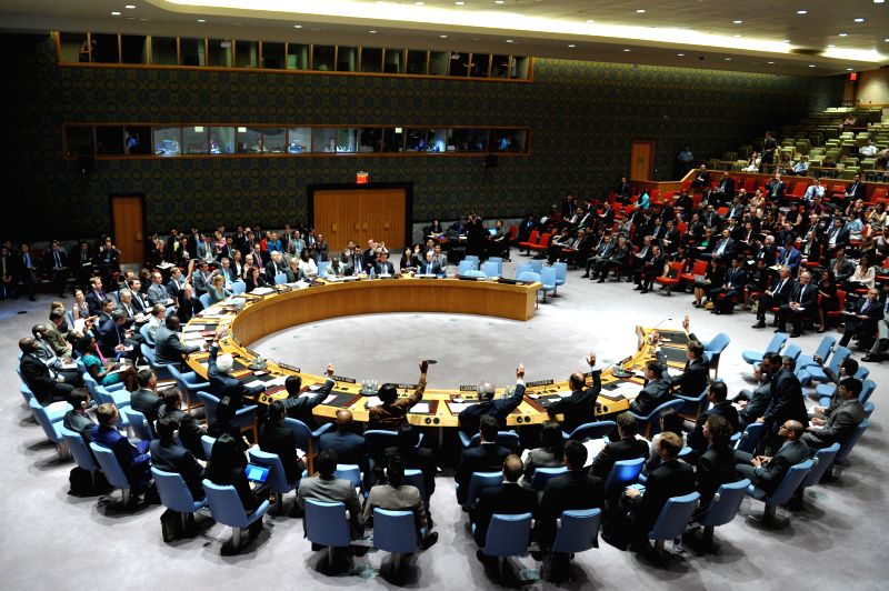 The United Nations Security Council vote on a draft resolution regarding the Malaysian Airlines MH17 crash, at the UN headquarters in New York, on July 21, 2014. ..