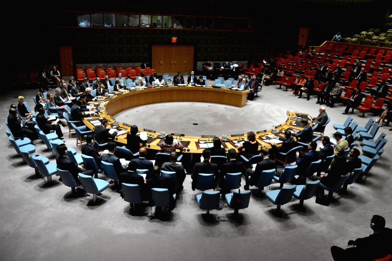 The UN Security Council holds an emergency meeting on the situation in the Middle East, at the UN headquarters in New York, on July 28, 2014. The UN Security ...