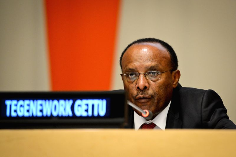 Tegegnework Gettu, Under-Secretary-General for General Assembly Affairs and Conference Management of the UN, attends the forum on Sustainable Urbanization and Green
